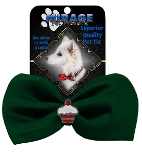Cupcake Widget Pet Bowtie Green